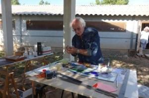 Christian Perrocheau explique l'art du vitrail